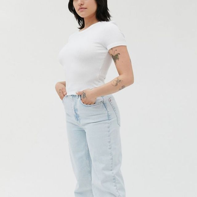 UO Perfect Ribbed Baby Tee
