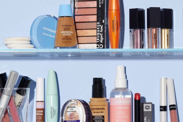 CoverGirl products on two shelves