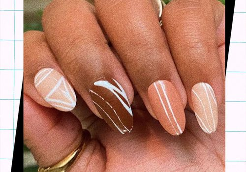 woman with fall ombre manicure