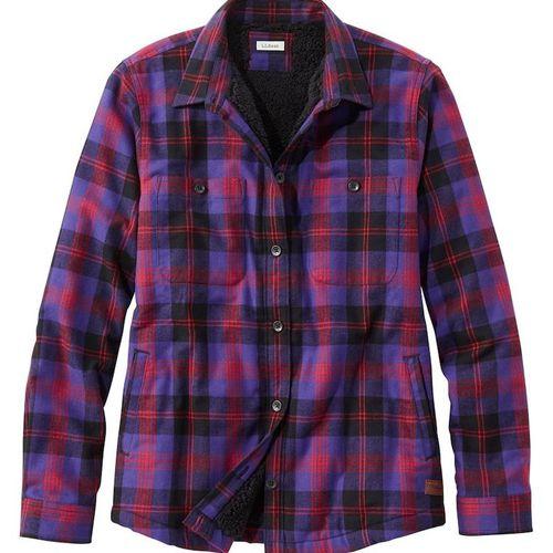 L.L.Bean Scotch Plaid Shirt, Sherpa-Lined