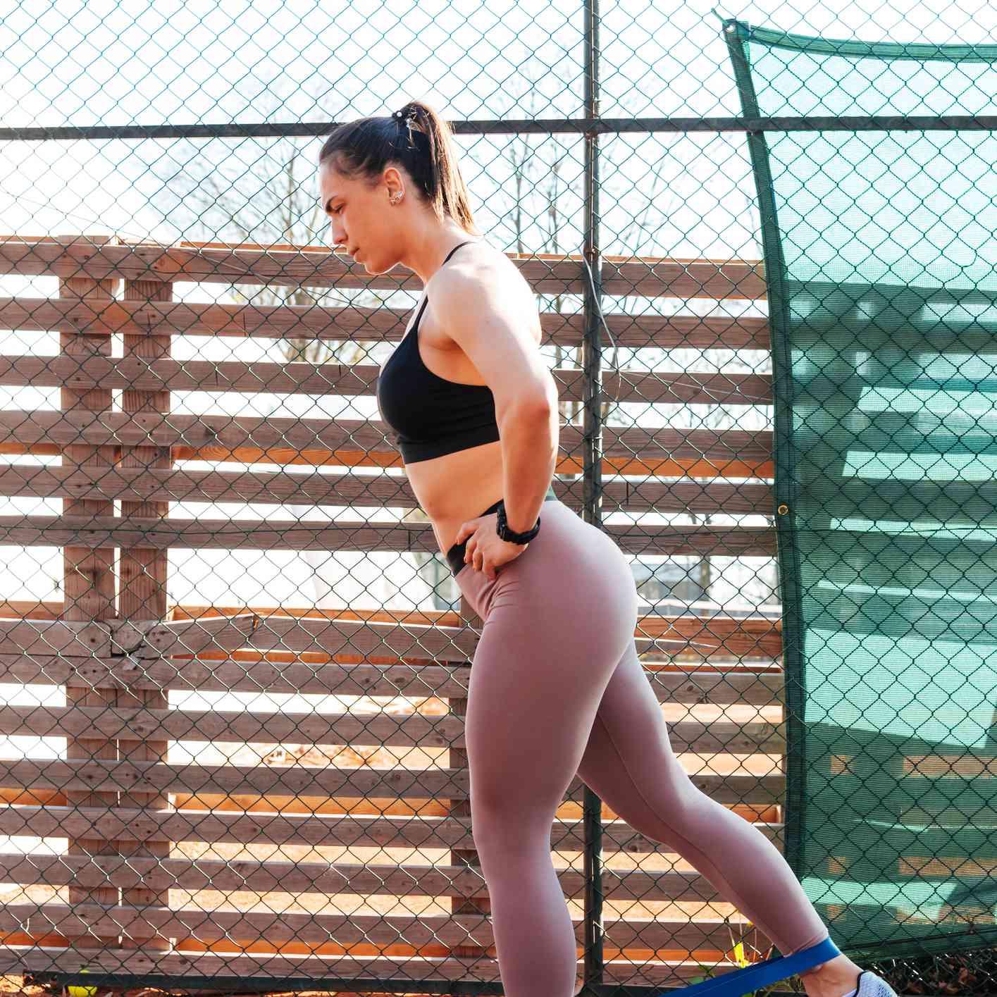 banded kickback exercise