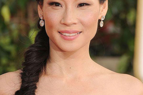 Lucy Liu with a fishtail braid.