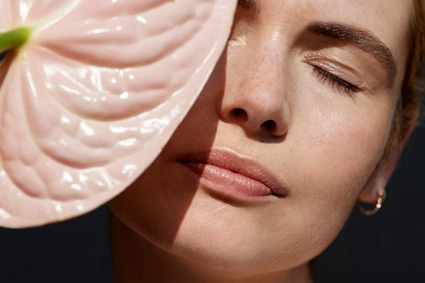 Woman with smooth skin texture