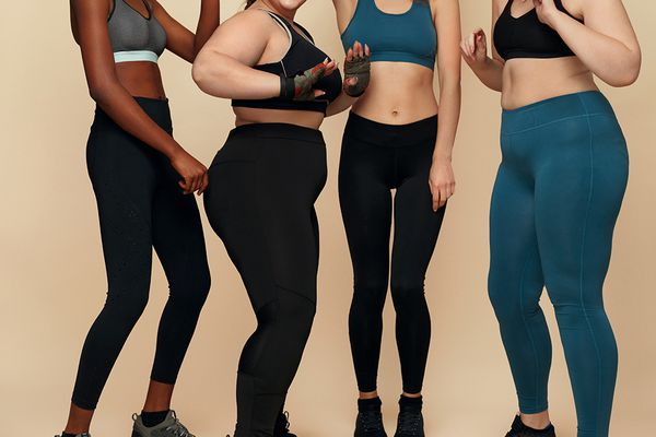 Group of women in workout leggings and sports bras