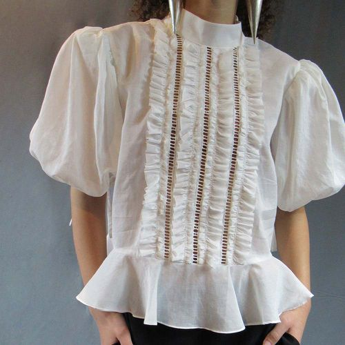 Frilled Puff Blouse ($275)